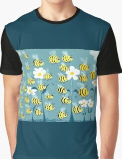 Cute Bees Graphic T-Shirt