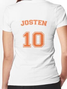neil josten #10 striker Women's Fitted V-Neck T-Shirt