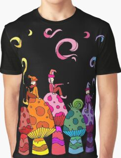 Three Smoking Gnomes Graphic T-Shirt