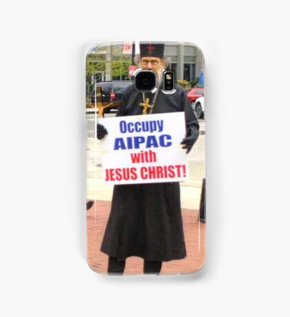 Occupy AIPAC with Jesus Christ Samsung Galaxy Case/Skin
