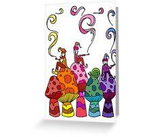 Three Smoking Gnomes Greeting Card