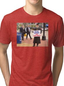 Occupy AIPAC with Jesus Christ Tri-blend T-Shirt