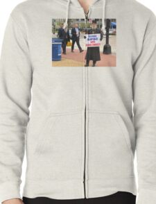 Occupy AIPAC with Jesus Christ Zipped Hoodie