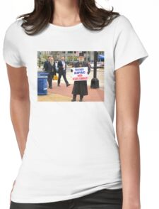 Occupy AIPAC with Jesus Christ Womens Fitted T-Shirt