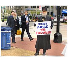 Occupy AIPAC with Jesus Christ Poster