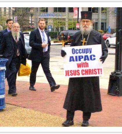 Occupy AIPAC with Jesus Christ Sticker