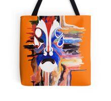 Chinese Opera Mask Orange Tote Bag