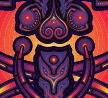 Unique abstract poster designs-Tethrapoz Sticker