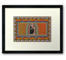 To See Beyond the Veil, Hildegard of Bingen Framed Print