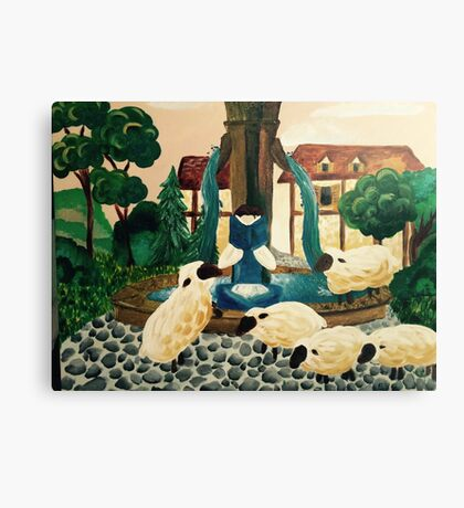Belle Reading a book Canvas Print