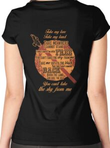 Firefly Ballad of Serenity Women's Fitted Scoop T-Shirt