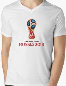 2018 FIFA World Cup Mens V-Neck T-Shirt