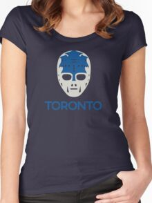 Vintage Toronto 70's Goalie Mask Women's Fitted Scoop T-Shirt