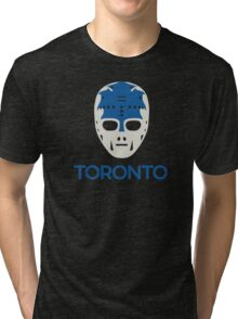 Vintage Toronto 70's Goalie Mask Tri-blend T-Shirt