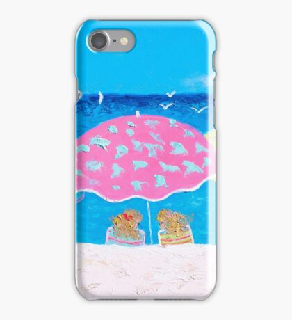 Beach painting - Girl Talk iPhone Case/Skin