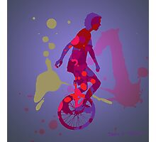The Unicyclist Photographic Print
