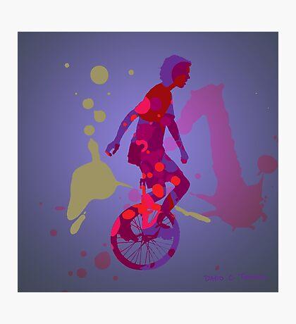 The Unicyclist Photographic Print