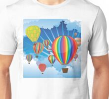 Air Balloons in the Sky 4 Unisex T-Shirt
