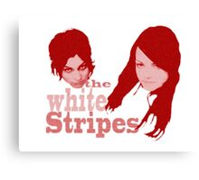 The White Stripes - red circles Canvas Print