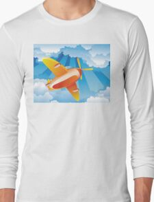 Airplane in the Sky 2 Long Sleeve T-Shirt