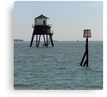 The Low Lighthouse, Dovercourt, 1863 Canvas Print