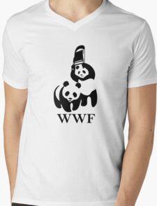 WWF Mens V-Neck T-Shirt
