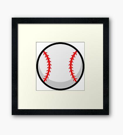 Cool Baseball Framed Print