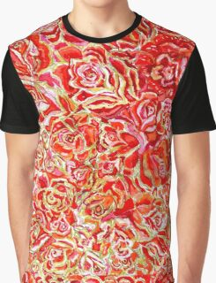 Red Roses Watercolor Graphic T-Shirt