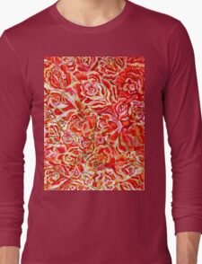 Red Roses Watercolor Long Sleeve T-Shirt