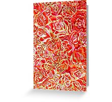 Red Roses Watercolor Greeting Card