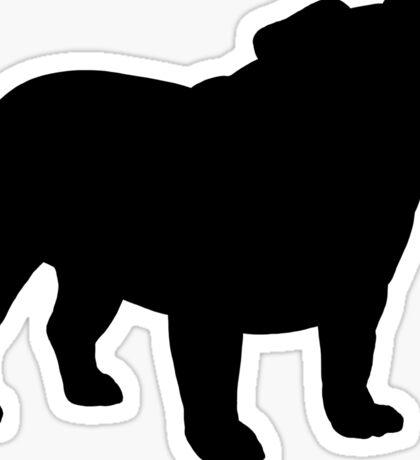 Bulldog Silhouette(s) Sticker