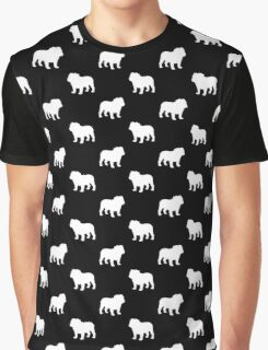 White Bulldog Silhouette(s) Graphic T-Shirt
