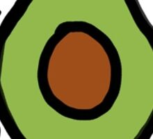 Keith Haring Avocado Sticker