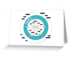 City Infographic / Paris Greeting Card