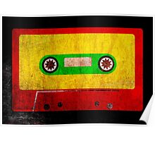Reggae Flag Cassette Tape - Cool Grunge Reggae Music Design Poster