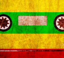 Reggae Flag Cassette Tape - Cool Grunge Reggae Music Design Sticker