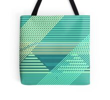 Striped Tropical Escape Tote Bag