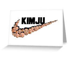 Kim Jong Un Faces - Nike Logo Greeting Card