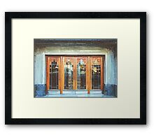 Manchester - Doors at The Plaza, Stockport Framed Print