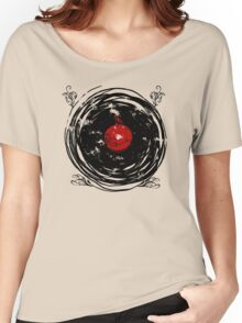 Enchanting Vinyl Records Vintage Twirls T Shirt Women's Relaxed Fit T-Shirt