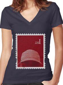 skepta konnichiwa merch Women's Fitted V-Neck T-Shirt