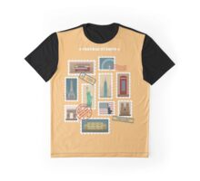 Set of Travel Postage Stamps: USA, New York, London, Paris. Vector illustration Graphic T-Shirt