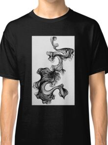 Black paintbrush pen drawing Classic T-Shirt