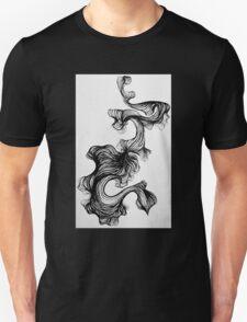 Black paintbrush pen drawing Unisex T-Shirt