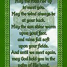 Green Irish Blessing by Packrat