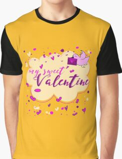 Valentine's Day Greeting Card. Lettering My Sweet Valentine Graphic T-Shirt