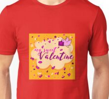 Valentine's Day Greeting Card. Lettering My Sweet Valentine Unisex T-Shirt