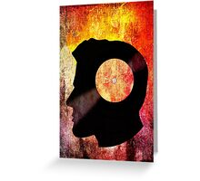 Burning with a Vinyl Record! Music DJ T Shirt and Prints Greeting Card