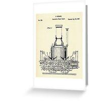 Locomotive Steam Engine-1837 Greeting Card