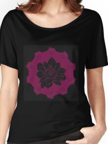 Abstract flower frame Women's Relaxed Fit T-Shirt